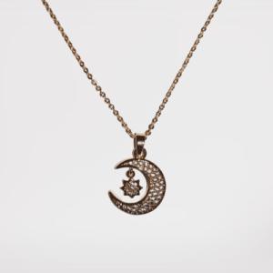 Colgante Luna (baño de oro)